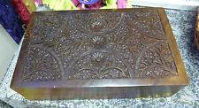 Beautiful Hand Carved Rectangle Trinket Box Sheesham Wood (CI-3307)