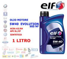 OLIO MOTORE AUTO BENZINA DIESEL 1 LT 5W40 ELF EVOLUTION 900 NF ACEA A3/B4 API SL