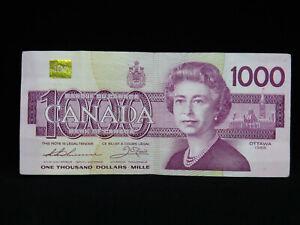 1988 $1000 Dollar Bank of Canada Banknote EKA0922991 Thiessen Crow VF-EF Grade