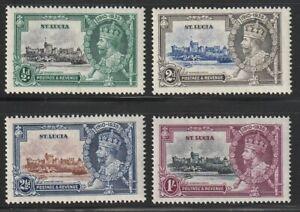 St. Lucia  1935   Sc # 91-94   Silver Jubilee   VLH   (4034-2)