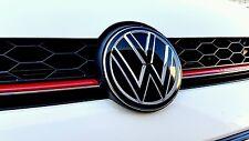 GOLF 7 VW Emblema Pellicola NERO LUCIDO OPACO PER Front o posteriore GTI, GTD, R, tuning