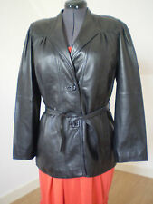 Leather Tailored 1980s Vintage Coats & Jackets for Women