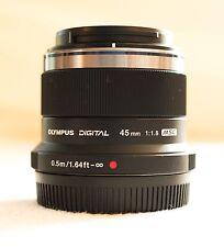 [como nuevo] Olympus 45mm f1.8 M. Zuiko Digital Lente-Negro micro cuatro tercios 4/3