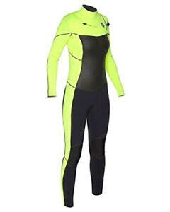 New $400 Women's Hurley Phantom 303 Wetsuit 3mm Full Suit Lime Size  4 6 8 10