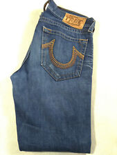 Men's True Religion Jeans 32 x 33 Jackson Straight Leg Blue RRP £180 top denims