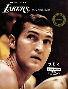 1970 Los Angeles Lakers New York Knicks Game 4 Finals Program