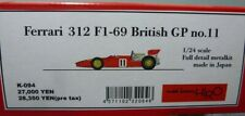 Mfh 1/24 Ferrari F1-69 British Gp no.11 Full Detail Metal Kit K-094 from Japan