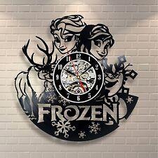 Frozen Elsa Disney Movie Home Decor Wall Art Cosplay Sven Vinyl Record Clock 184