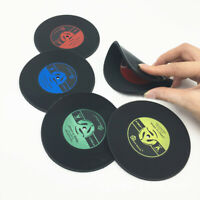 Retro Vinyl Record CD Coaster Table Coffee Drink Cup Mat Pad Placemat Decor New