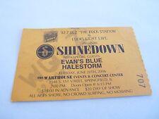 Shinedown Halestorm Evans Blue Rare 2006 Tour Concert Ticket Stub