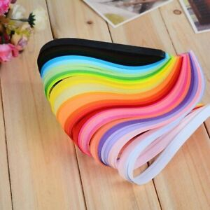 260pcs Paper Quilling 26 Colors 3mm/5mm Origami Craft Papers Scrapbooking Decora