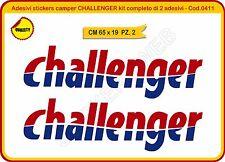 Adesivi stickers camper CHALLENGER kit completo di 2 adesivi caravan Cod. 0411