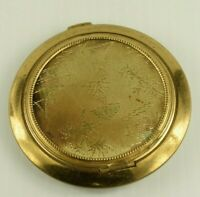 Vintage 1940's-50's Mod Compact With Mirror Unused? Brass