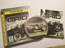 PAL SONY PLAYSTATION 3 PS3 RACE GAME RACEDRIVER GRID +BOX INSTRUCTIONS COMPLETE