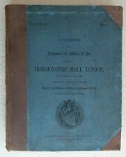 Large Vintage Book 1869 Catalogue Antiquities Art Ironmonger's Hall Livery Compa