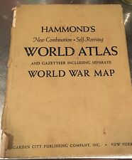 Hammond's World Atlas And Gazetteer World War Map