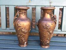 Auguste Moreau vasi, Art Nouveau vasi, coppia di vasi antichi, antiquariato francese