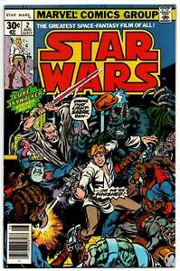 """Star Wars #2 Marvel Comics 1977 Part 2 of """"Star Wars: A New Hope"""" movie adaptati"""