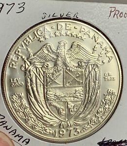 1973 Panama Balboa Proof Silver Coin KM #27  ***NO RESERVE***