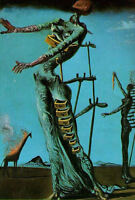 Framed Print - Salvador Dali The Burning Giraffe (Painting Picture Poster Art)
