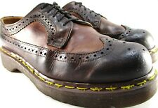 Dr Martens Men Wing Tip Oxford Shoes Size 7 Brown Air Cushion Insole England