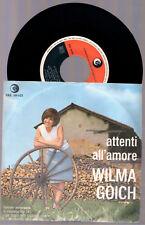 """WILMA GOICH ATTENTI ALL'AMORE + L'UOMO DI IERI 1966 RICORDI SRL 10 - 421 7"""" 45"""