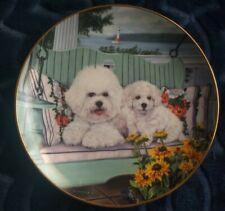 The Danbury Mint Swing Set Michele Amatrula Limited Edition Bichons Frise Plate