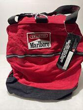 Vintage Marlboro Unlimited Carrying Duffel Luggage Gym Travel Bag Red 1990s VTG
