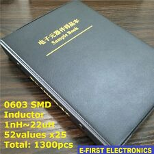 0603 SMD Chip Inductor Sample Book Assorted Kit 1nH~22uH 52Valuesx25 1300pcs