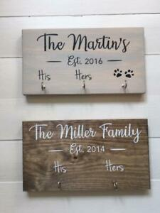 Personalised Key Holder/Couple gift /Wedding Gift/leash hook/His Hers/New home