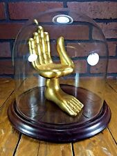 - Pedro Friedeberg Miniature Golden Wood Chair Hand Sculpture Signed 17x14x11cm-