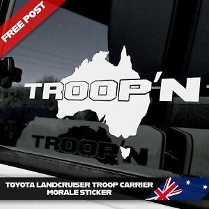 Suits Toyota Landcruiser Troop Carrier Sticker Troop'n 70 78 series decal Troopy