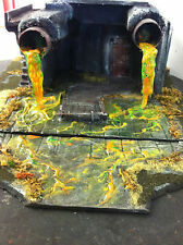 28 mm Made To Order Toxic River w/ Spill Pipes *FOO-UBU WARGAME TERRAIN