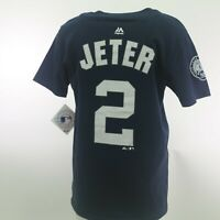 New York Yankees MLB Genuine Kids Youth Size Derek Jeter T-Shirt New With Tags