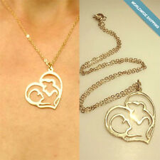 Gold Heart Pendant for mothers Necklace Pendant Necklace New Mom Gift for wife
