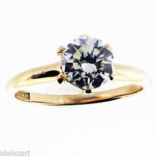 1,02 ct EGL Redondo Anillo Solitario Diamante J Vs2 14k Oro Amarillo