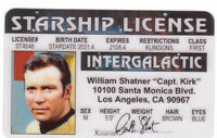 William Shatner Captain Kirk of STAR TREK  plastic ID card Drivers License -