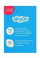 Skype Unlimited World one year subscription for previous/existing customer