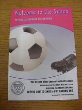 02/05/2012 West Sussex Liga División 4 Taza de caridad final: whyke Unidos 2nds V