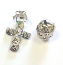 Sterling Silver Masonic Orbe Large