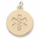 10k Solid Gold Medical Medic Id Alert Pendant Necklace FREE ENGRAVING