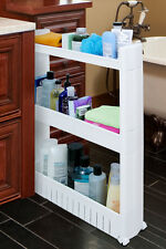 Slideout Storage Tower Organizer Slide Out Slim Narrow Space Laundry Kitchen