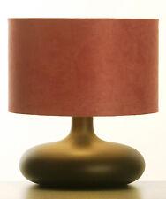 LAMPE à Poser / de Chevet en BOIS TOURNE Finition Wengé de Style Retro