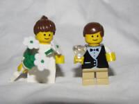 LEGO RING BEARER & FLOWER GIRL Wedding Minifig minifigure cake topper bride