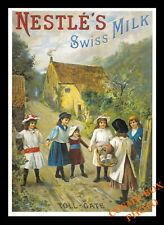 Carte postale publicitaire NESTLE'S SWISS MILK advertising postcard pub chocolat