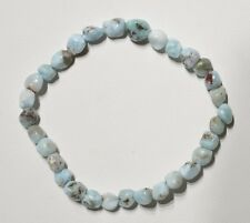 Bracelet grains larimar - Natural larimar bead bracelet