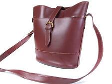 Authentic Must De CARTIER Bordeaux Leather Shoulder Bag CS0034