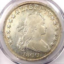 1800 Draped Bust Silver Dollar $1 - PCGS VF Details - Rare Coin - Near XF!