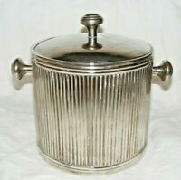VINTAGE SILVER PLATE SILVERPLATE GEORGIAN STYLE RIBBED ICE BUCKET
