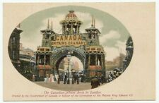 King Edward VII Coronation Canadian Wheat Arch London England Patriotic Postcard